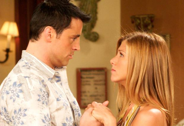 As Rachel and Joey in 'Friends'