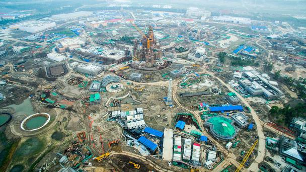 Aerial view of Shanghai Disney Resort on July 15, 2015 in Shanghai, China. Photo by ChinaFotoPress/ChinaFotoPress via Getty Images