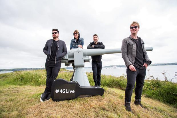 Picture shows Kodaline after performing an intimate gig for 100 people on Spike Island, off the coast of Cork,which was streamed live on Periscope and Twitter over Vodafone's 4G network to over a quarter of a million fans. Pic:Naoise Culhane