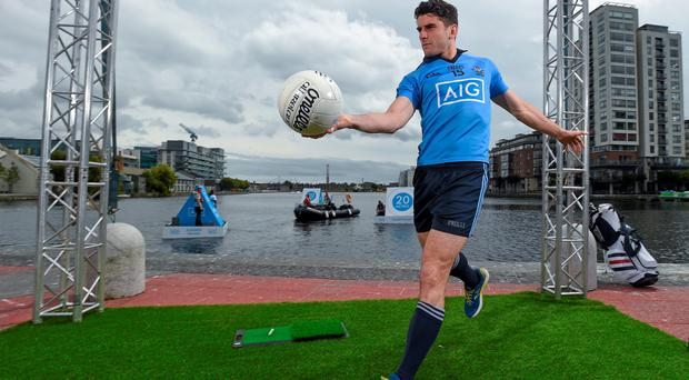 Bernard Brogan pictured at the AIG Insurance Summer Splash event in Grand Canal Dock yesterday