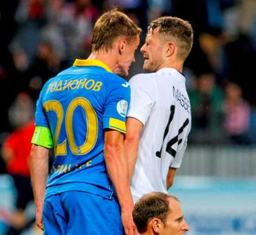 UEFA have cleared Vitali Rodionov of Bate after he knocked heads with Dane Massey of Dundalk in their Champions League Second Qualifying Round