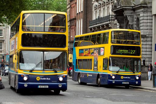Dublin Bus on Dame St
