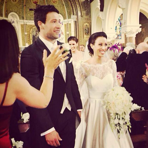 Kevin McLaughlin wed Kate Carton in Wicklow. Picture: Facebook