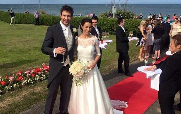 Kevin McLaughlin wed Kate Carton in Wicklow. Picture: Twitter