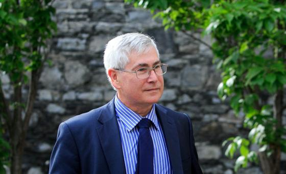 21/07/2015 Consultant obstetrician and gynaecologist Dr Peter Van Geene during the The Medical Council fitness-to-practise inquiry at Kingram House, Dublin. The consultant obstetrician and gynaecologist is facing allegations of poor professional performance in the case of four women who underwent hysterectomies at Aut Even private hospital in Kilkenny. Photo: Gareth Chaney Collins