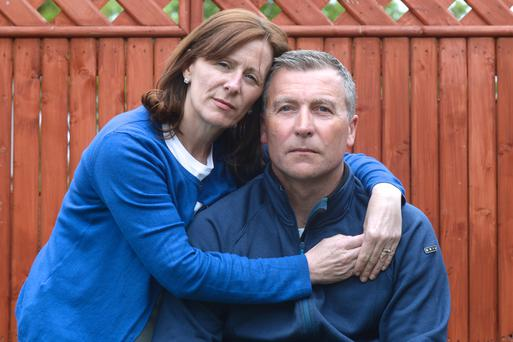 Steffini McGill Lynch and John Lynch from Clondalkin who tragically lost their son Jake McGill Lynch to suicide when he was 14. Pic: Justin Farrelly.