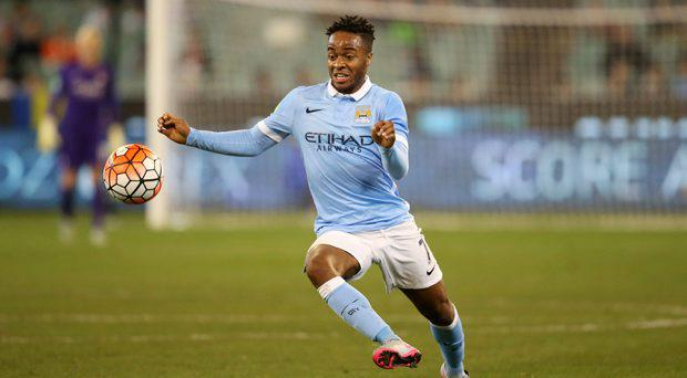 Manchester City's Raheem Sterling in action