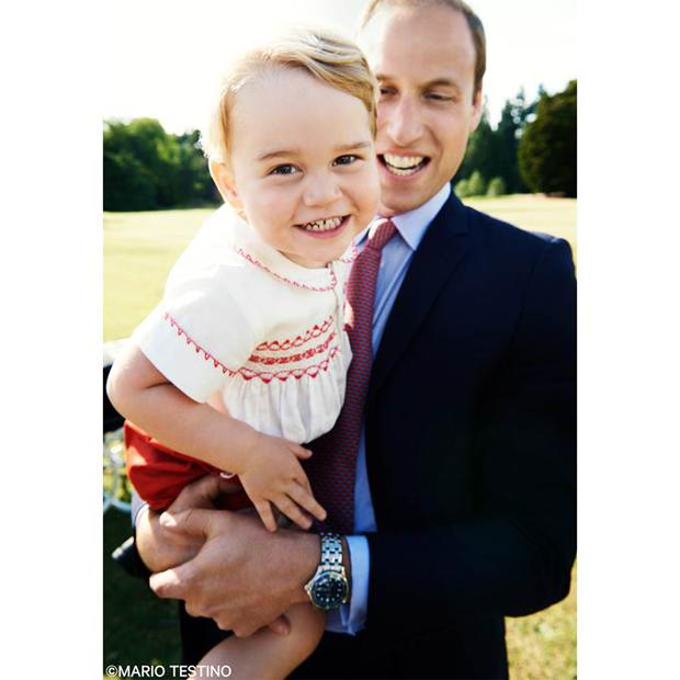 Kensington Palace released this photo of Prince George before his second birthday