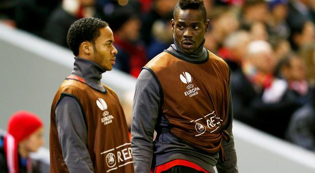 Mario Balotelli and Raheem Sterling during their Liverpool days