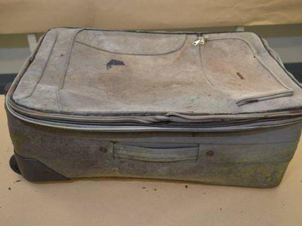 The suitcase in which the child's remains were discovered