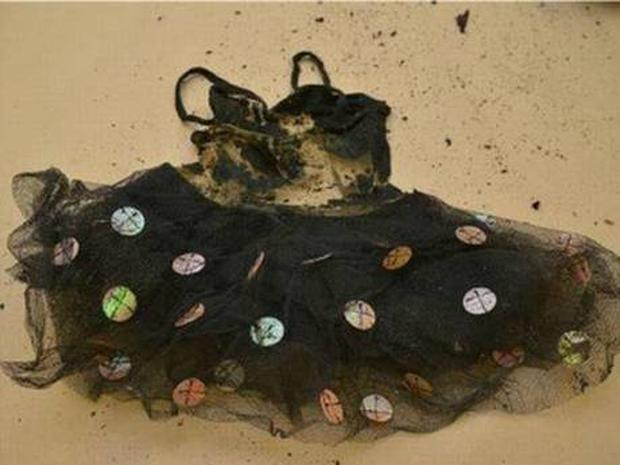 Articles of clothing found in the suitcase alongside the child's remains