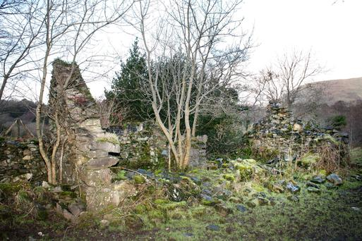 What remains of the White O' Morn cottage that featured in 'The Quiet Man' starring John Wayne and Maureen O'Hara