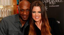 Professional basketball player Lamar Odom and TV personality Khloe Kardashian in 2012