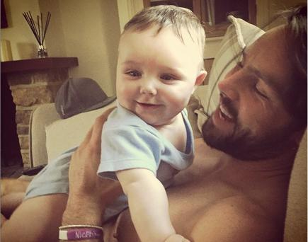 Una Foden shared this sweet photo of baby Tadhg and husband Ben