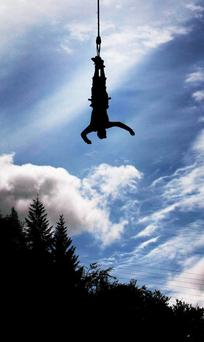 File photo dated 27/05/11 of a bungee jumper
