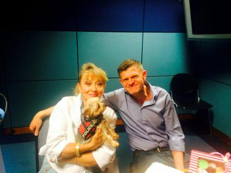 Twink in studio at RTE Radio 1 with Brendan O'Connor