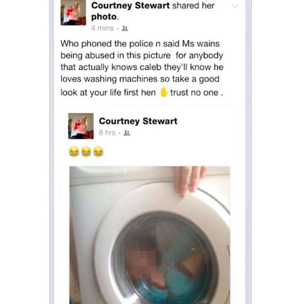 The young mum's Facebook post, now removed
