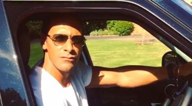Rio Ferdinand used his car radio to send a message to the Spanish goalkeeper