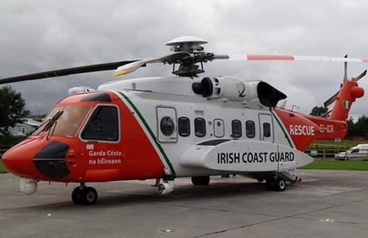The search and rescue helicopter Rescue 115 was involved in the recovery Credit: Irish Coast Guard