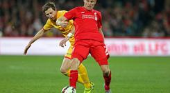 Liverpool's James Milner in action during pre-season