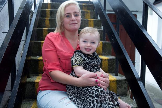 New start: Mandy Cotter and her daughter Saoirse pictured at Daisyhouse in Dublin. Photo: Arthur Carron