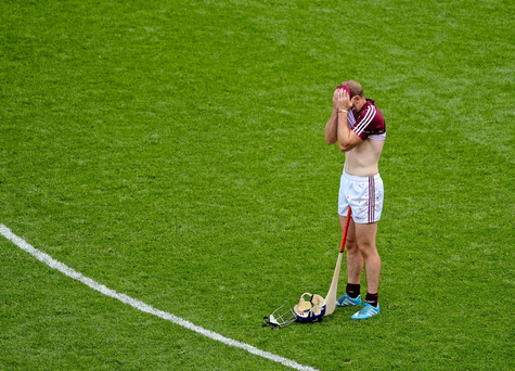 A dejected Cyril Donnellan of Galway after the Leinster final defeat to Kilkenny