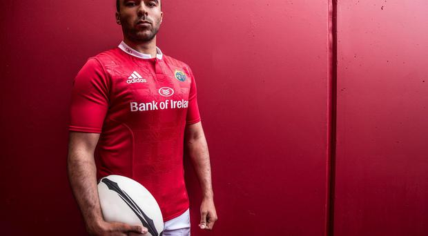 Zebo pictured wearing the new Munster home kit