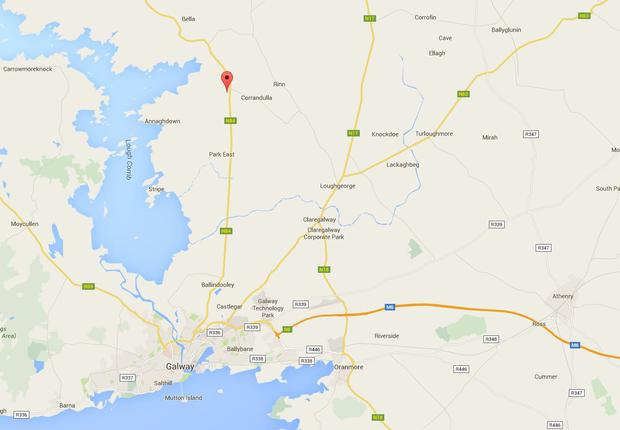 The accident occurred at a yard in Cahermorris, Corrandulla, Co Galway
