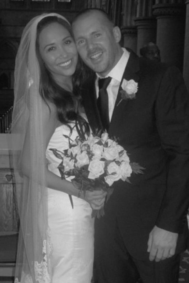 Myleene Klass posted this wedding photo of her and Graham Quinn on Twitter