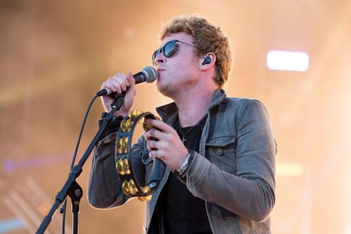 PLYMOUTH, ENGLAND - JULY 22: Lead singer of Kodaline Steve Garrigan performs on stage during the MTV Crashes Plymouth