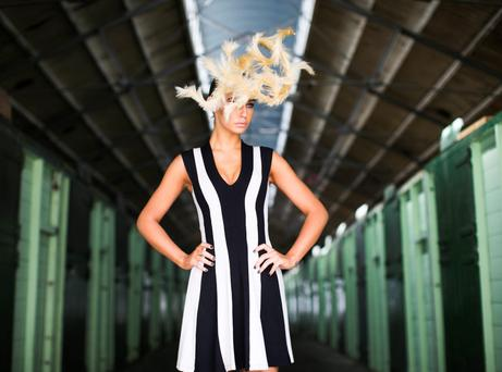 Great Lengths announced their sponsorship of the 'Most Creative Hat' category at Ladies Day at the Discover Ireland Dublin Horse Show. Photo Leon Farrell/Photocall Ireland