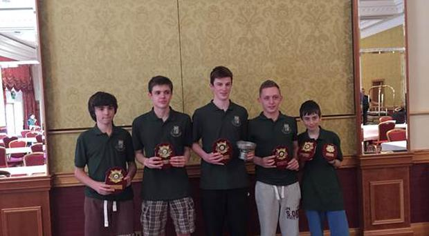 Glorney Cup U-18 Irish Team. Alex Byrne, Conor Maher, Conor O'Donnell, Scott Mulligan and Tom O'Gorman
