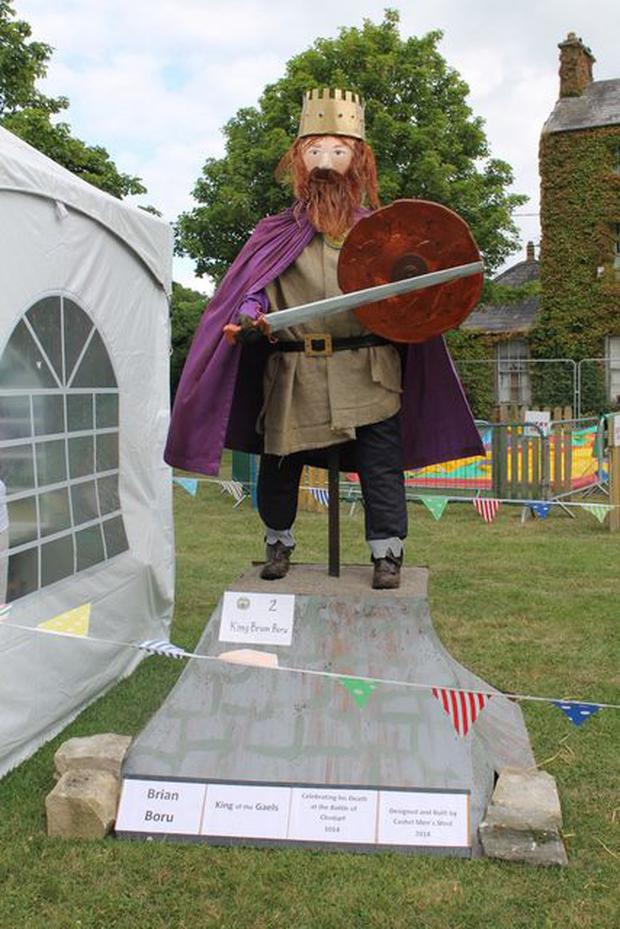 'King Brian Boru' by Cashel Men's Shed won first place in Best Materials Used last year (Photo: Durrow Scarecrow Festival)
