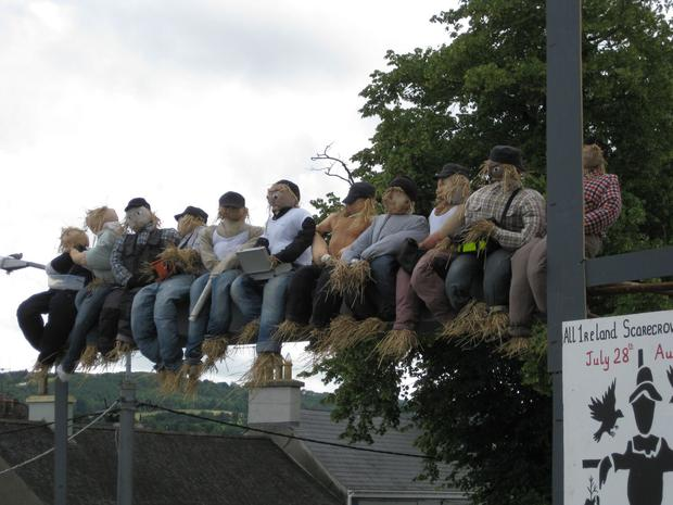 A straw version of one of the world's most iconic photographs (Photo: Durrow Scarecrow Festival)