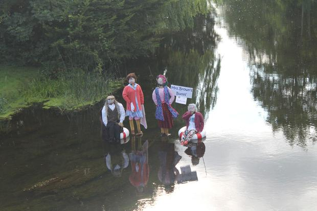 'Mrs Brown's Buoys' guarantee laughs from the bridge (Photo: Durrow Scarecrow Festival)