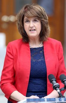 'Joan Burton is 'Ms Volubility' dispensing words by the dozen'