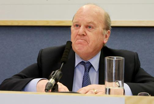 Finance Minister Michael Noonan at the publication of the NTMA Annual Report. Photo: Frank McGrath