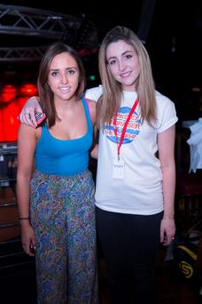 Kate Tunney and Megan Grennan at the Berkeley Fundraiser at the Academy in Dublin. Picture:Arthur Carron