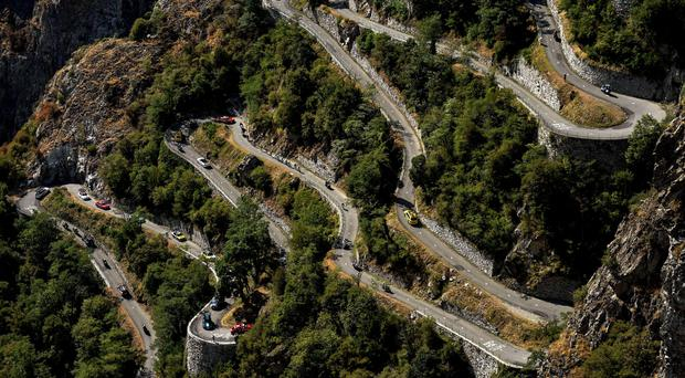 With 17 hairpin bends on the way to the top, the climb of Lacets de Montvernier came with just 14km remaining on yesterday's 18th stage of the Tour de France