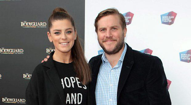 Aoibhinn McGinnity and Peter Coonan at the opening night of the musical The Bodyguard at the Bord Gais Energy Theatre