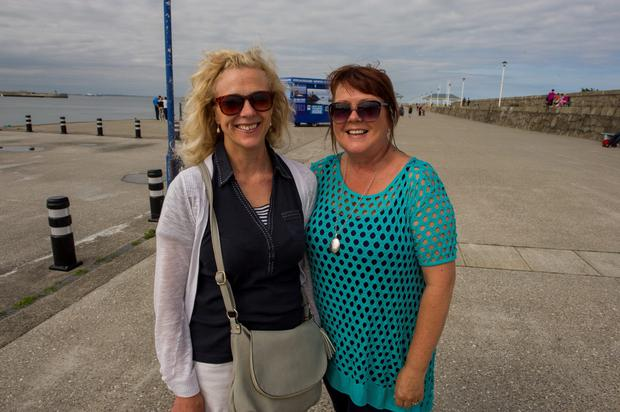Cruise Ship debate in Dun Laoghaire. Joyce Nealon, Dun Laoghaire and Sandra McDonnell, Blackrock.