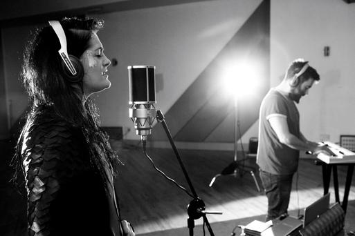 Fight Like Apes MayKay and Jamie Fox during the Windmill Lane Sessions