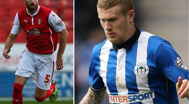 James McClean and (left) Kirk Broadfoot