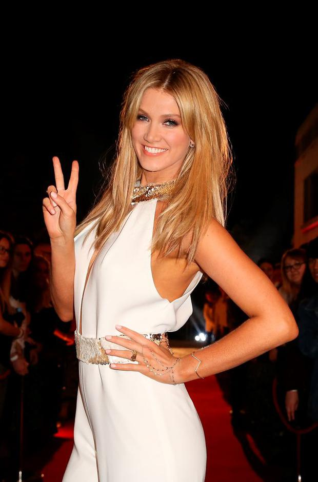 Delta Goodrem arrives at The Voice Australia Coldplay cocktail event at Fox Studios on June 20, 2014 in Sydney, Australia. (Photo by Mark Metcalfe/Getty Images)