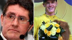 Paul Kimmage and right Chris Froome
