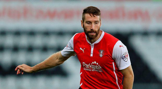 Rotherham United's Kirk Broadfoot during the Capital One Cup Second Round match at the Liberty Stadium, Swansea