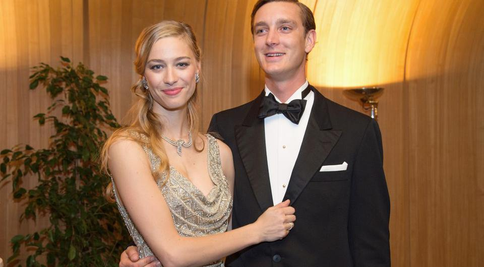 In this handout image provided by Le Palais Princier, Pierre Casiraghi and Beatrice Borromeo attend the Rose Ball 2015 in aid of the Princess Grace Foundation at Sporting Monte-Carlo on March 28, 2015 in Monte-Carlo, Monaco. (Photo by Gaetan Luci/Le Palais Princier via Getty Images)