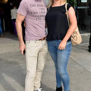 Paul Byrom, wife Dominique Byrom (nee Dominique Coulter)