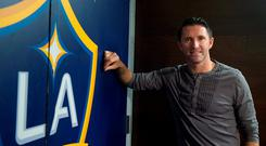 Republic of Ireland captain and LA Galaxy star Robbie Keane talking to members of the media in advance of the Special Olympics World Summer Games in Los Angeles. StubHub Center, LA Galaxy, Arena / Stadium Picture credit: Ray McManus / SPORTSFILE