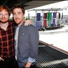 Ed Sheeran with support act Jamie Lawson at Croke Park yesterday